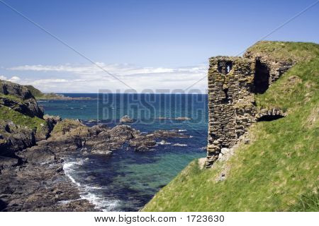 The ruins of Findlater castle