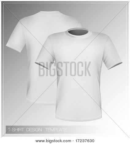 Vector illustration. T-shirt design template (front & back).