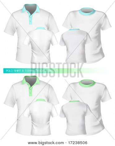 Vector. Men t-shirt and polo shirt design templates.