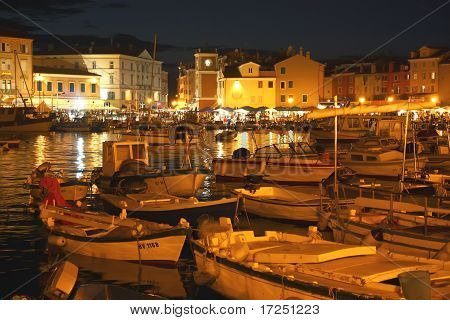 Rovinj at night (Croatia)