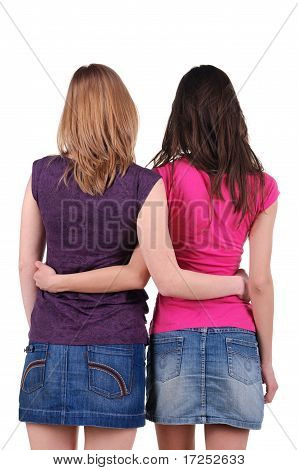 Two Beautiful Young Woman L. Rear View.