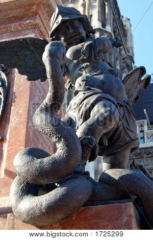 Angel Statue In Marien Platz