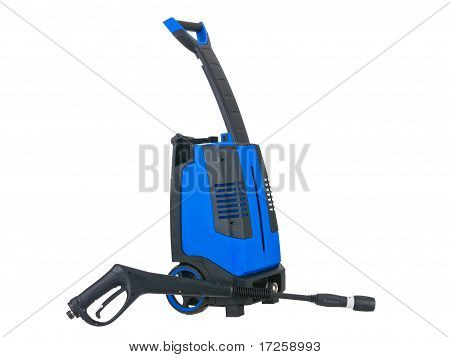 Blue Pressure Portable Washer Gun Down On