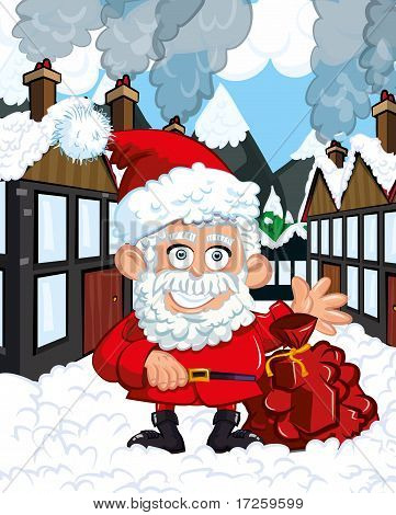 Cartoon Santa Clause