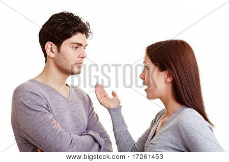 Angry Woman Discussing With Partner