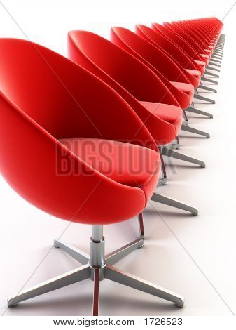 The Row Of Modern Chairs
