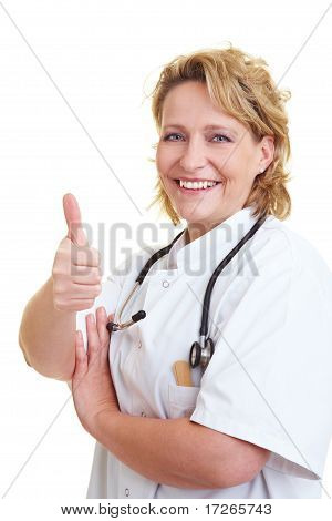Doctor Holding Thumb Up