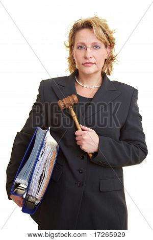 Judge Carrying Files