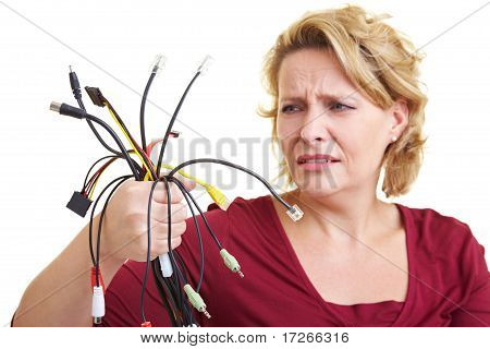 Woman With Cables