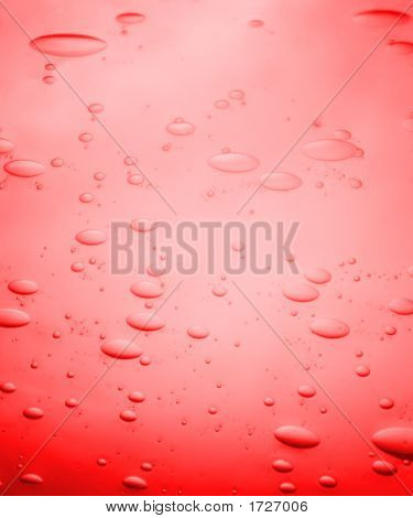 Red Bubbled Glass