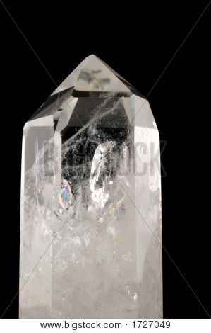 Quartz Crystal - Black Background