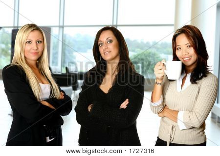 Diverse Businesswomen Standing Together