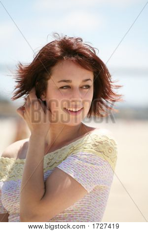 Pretty Woman On Beach