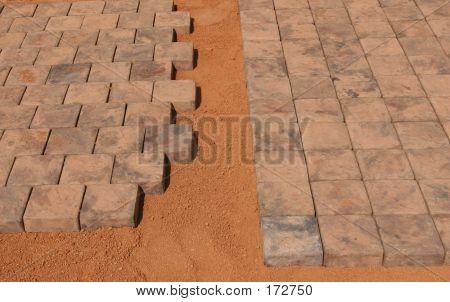 Paving Stones Beeing Layed