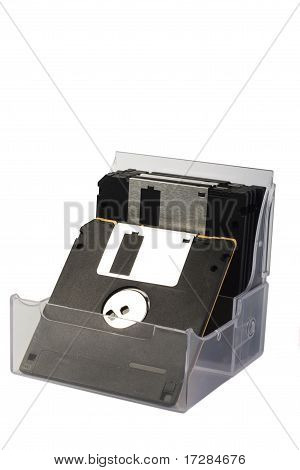 Diskettes in a box