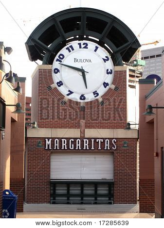 Coors Field Clock - Colorado Rockies