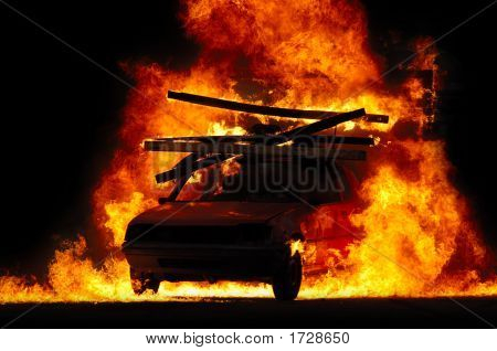 Car And Fire