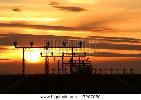 Runway Sunset