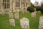 Medieval Church And Graveyard poster