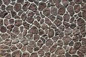 rock wall. volcanic rock wall on Maui Hawaii. Volcanic Stone retaining wall.  poster