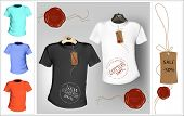 picture of t-shirt red  - Vector illustration - JPG