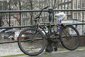 Постер, плакат: Парковка велосипедов пути Голландский