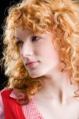 stock photo of red hair  - Portrait of a young red - JPG