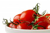 Dish With Cherry Tomatoes (Horizontal) With Clipping Path
