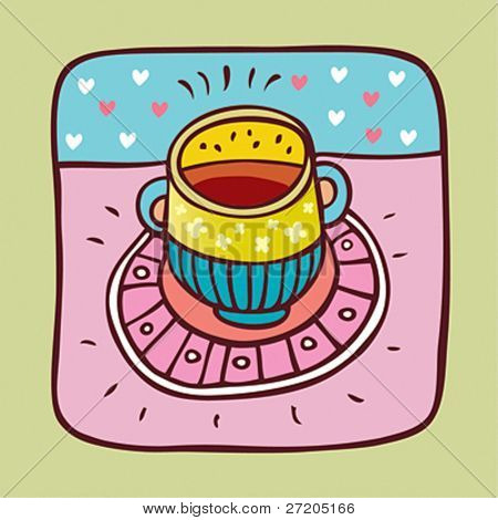 vector illustration cup of bouillon