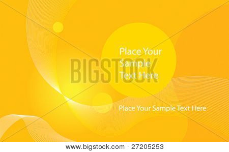 abstract vector yellow background