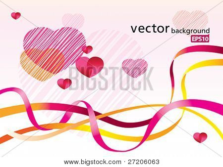 valentine's day abstract vector background EPS10