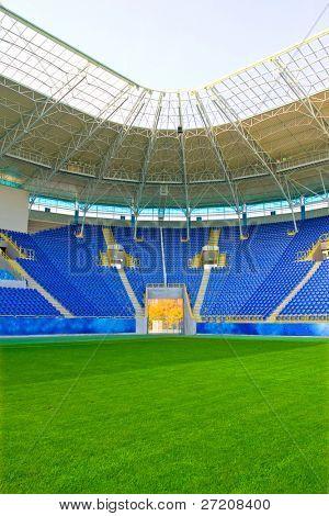 Stadion mit Rasenplatz grünen spielen