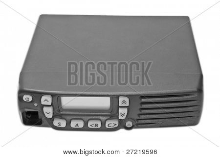 isolated portable radio transmitter on a white background