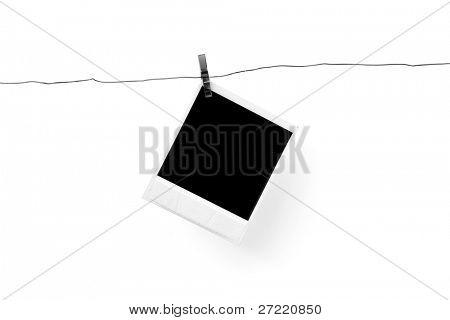 photo blank on white background