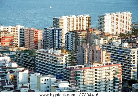 Seaside apartment buildings