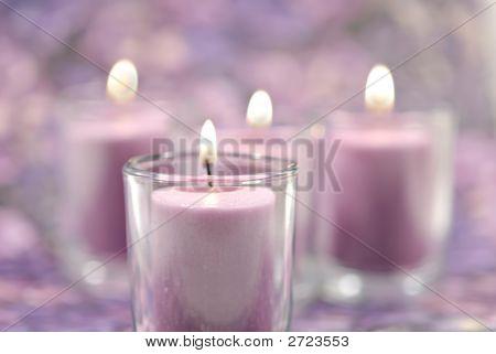 Lavender Canclles