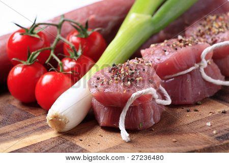 Spiced raw pork tenderloin