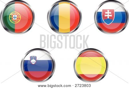 European Flag Buttons - Part 5