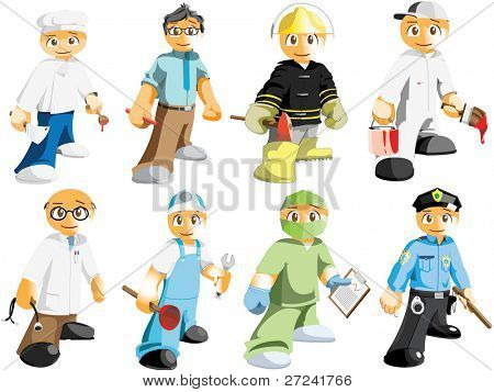 Various male professions