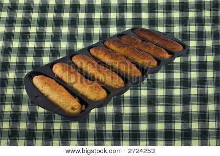 Cornbread Sticks In An Old Castiron Pan