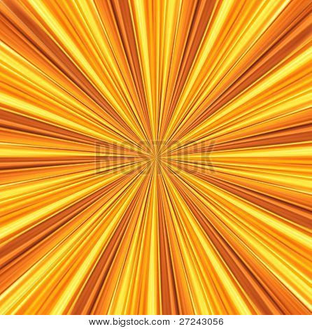 yellow rays converge toward the center. abstract background