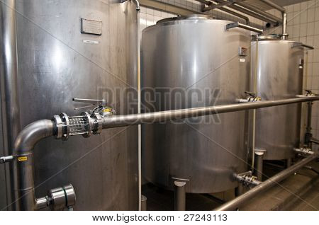 brewery. Storage tanks