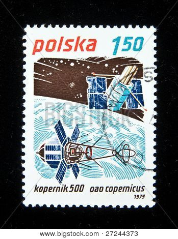 POLAND - CIRCA 1979:  A stamp printed in Poland shows spaceship
