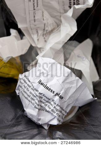 Plano de negócio ruim