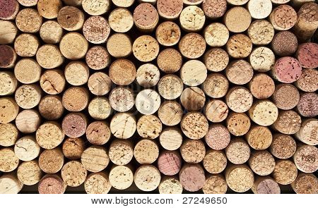 Wine cork background