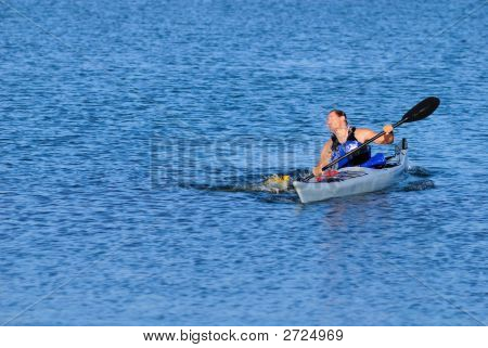 Kayaker Emerges From Water