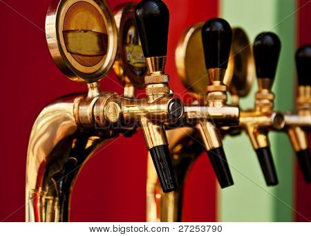 golden beer tap