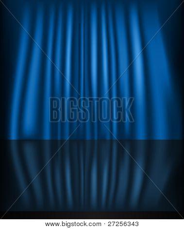 blau Curtain background