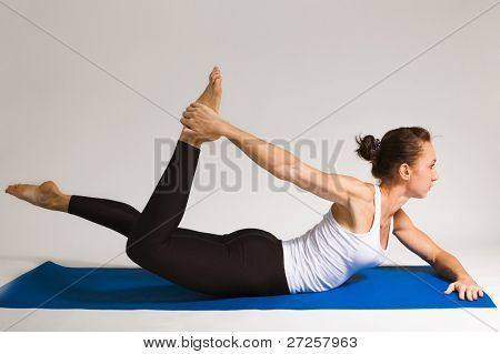 yogi girl doing exercise, 101 of 116