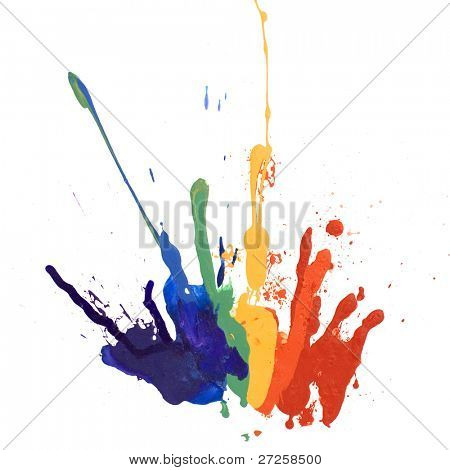 rainbow paint isolated on white background